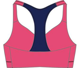Elite Runners Female Sports Bra, Fluorescent Scarlet