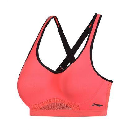 Hobby Runners Female Sports Bra, Fluorescent Scarlet