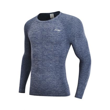 Road Running Male L/S Layer, Nany Green Blue