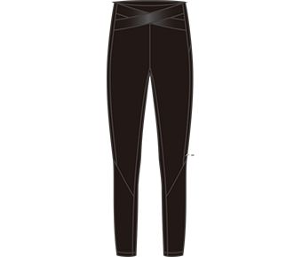 Base Layer-Training Female Layer Pants, Standard Black