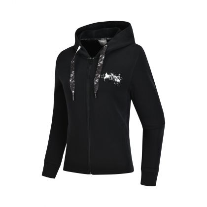 Trend Female FZ Knit Hoodie, Standard Black