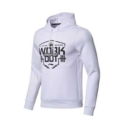 Gym Male PO knit hoodie, Standard White
