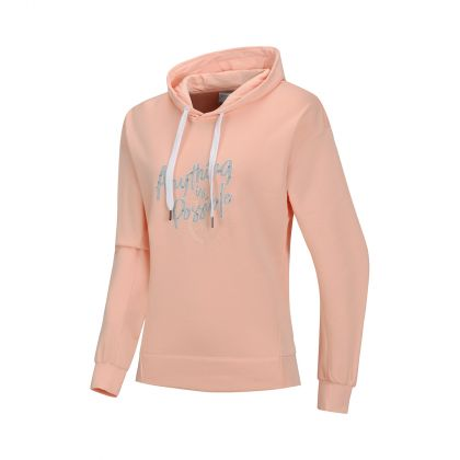 Swagger Female PO knit hoodie, Orange Pink