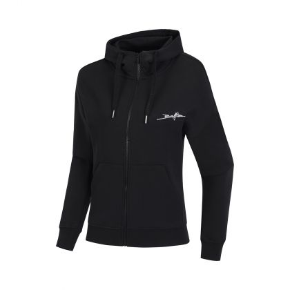 Basketball Culture Female FZ Knit Hoodie, Standard Black