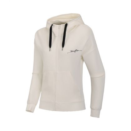 Basketball Culture Female FZ Knit Hoodie, Milk White