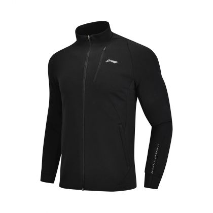 Active Training Male FZ knit top, Standard Black