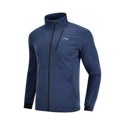 Active Training Male FZ knit top, Heather Guangdong Blue