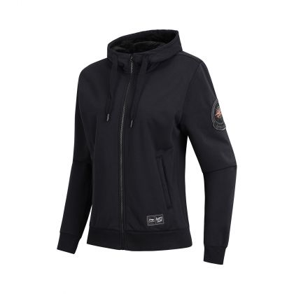 Swagger Female FZ Fleece Knit Hoodie, Standard Black