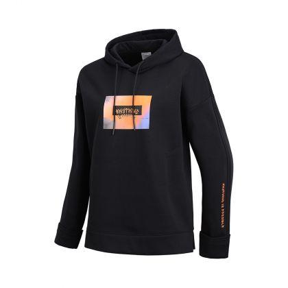 Style Female PO knit hoodie, Standard Black