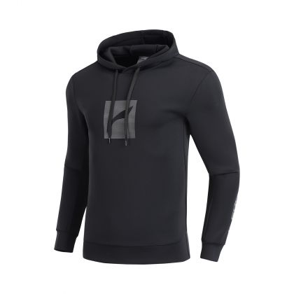 Gym Male PO knit hoodie, Standard Black