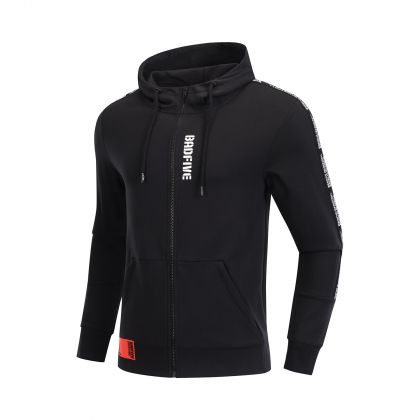 Basketball Culture Male FZ Knit Hoodie, Standard Black