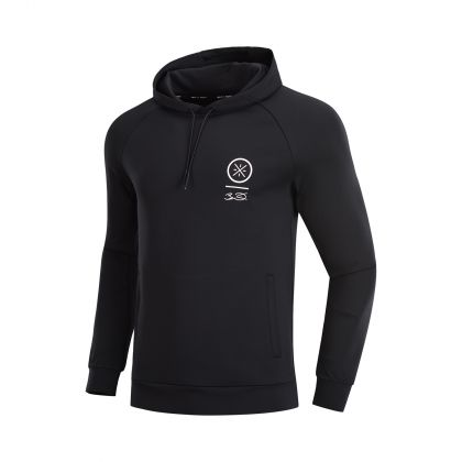 Wade Signature Male PO Knit Hoodie, Standard Black