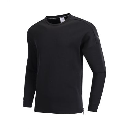 Wade Male PO Knit Top, Standard Black