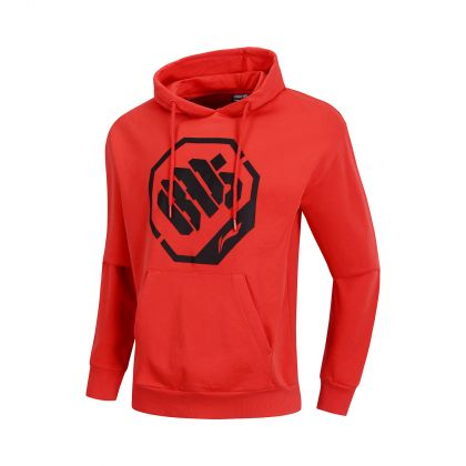 Basketball Culture Male PO Knit Hoodie, Berry Red