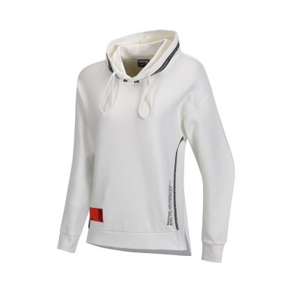 Basketball Culture Female PO Knit Hoodie, Milk White