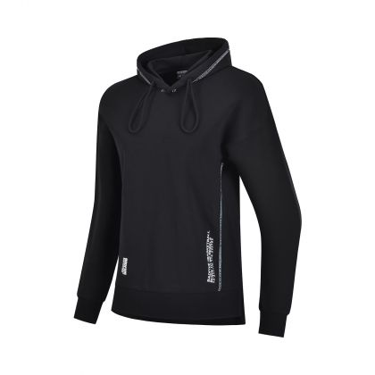 Basketball Culture Female PO Knit Hoodie, Standard Black