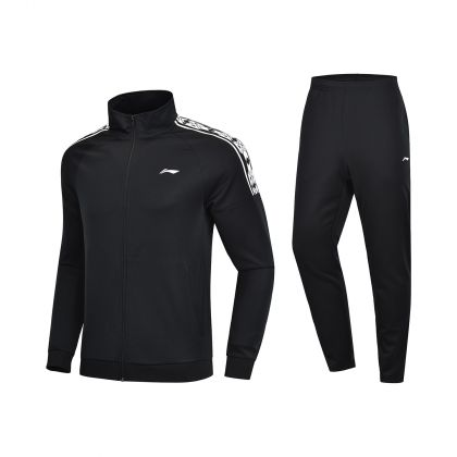 Training Male Fz Knit Top Suit, Standard Black