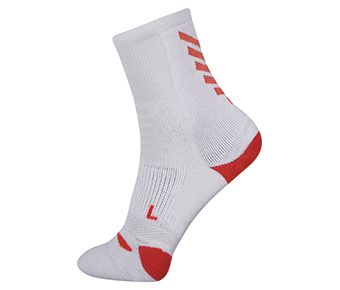 Socks-full Terry, White/Orange