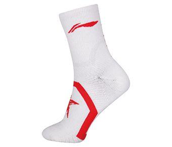 Socks-Full Terry, White/Red