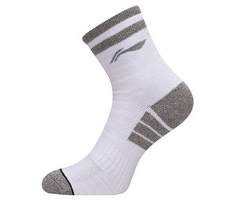 Socks-full Terry, White/Grey