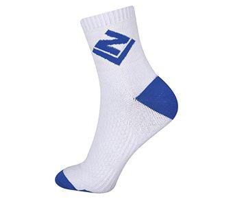 Socks-Full Terry, White/Blue