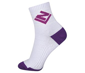 Socks-Full Terry, White/Purple