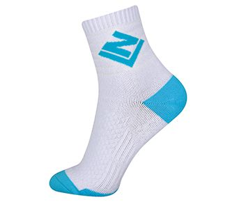 Socks-Full Terry, White/Blue