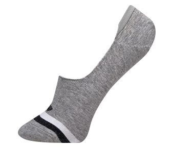 The Trend Male Plain Shallow Mouth Socks, Gray