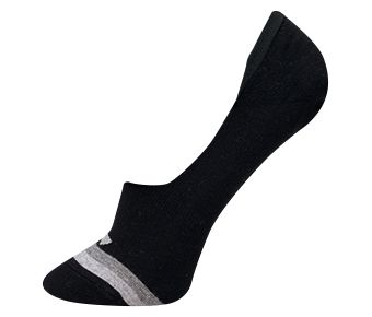 The Trend Male Plain Shallow Mouth Socks, Black