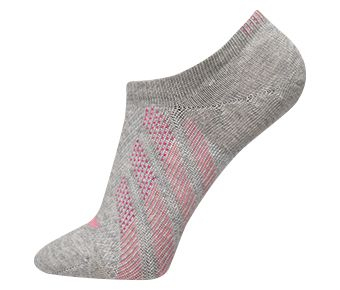 The Trend Female Ankle Socks, Gray/Pink