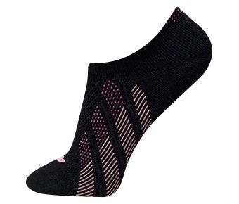 The Trend Female Ankle Socks, Black/Pink