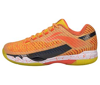 Male Professional Badminton Shoes, Lemon Yellow/Standard Black