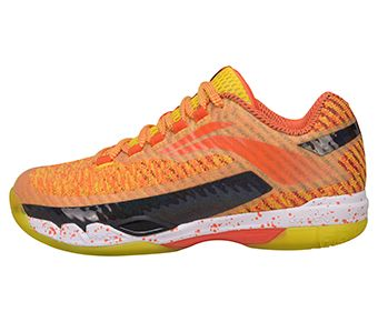 Female Professional Badminton Shoes, Lemon Yellow/Standard Black