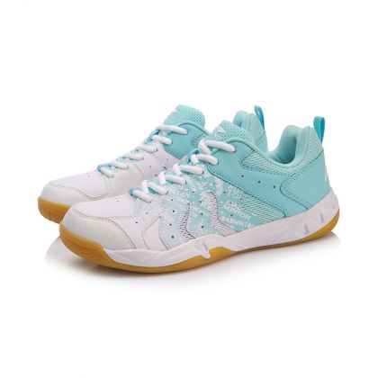 Female Badminton Training Shoes, Island Blue/Standard White