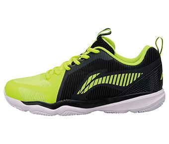 Male Badminton Training Shoes, Flashing Bright Green/Standard Black