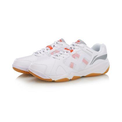 Male Badminton Training Shoes, Standard White/Microcrystalline Gray
