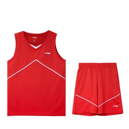 Basketball Boy Competition Uniform Suit, Flame Red/Flame Red