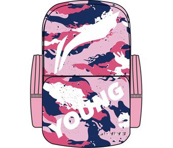 Badfive Girl Backpack, Pink Camoufl Age