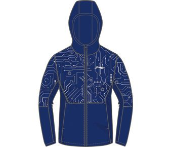 Training Boy Windbreaker, Crystal Blue Allover Print