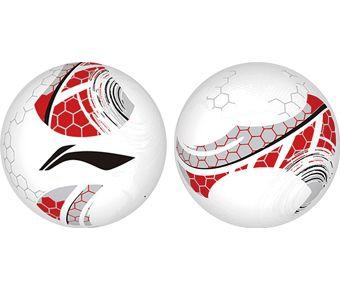Soccer, White/Li-Ning Red/Silver/Black