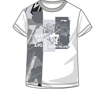Sports Life Boy S/S Tee, Heather Camoufl Age/Standard White