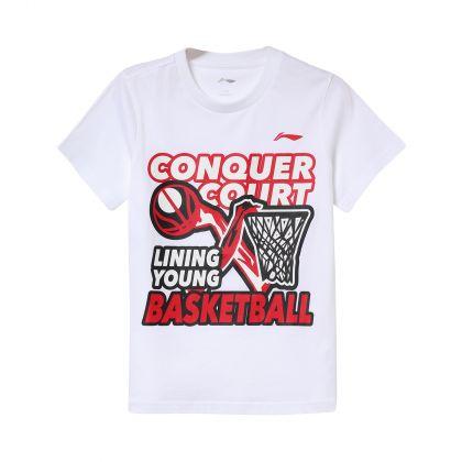 Basketball Boy S/S Tee, Standard White