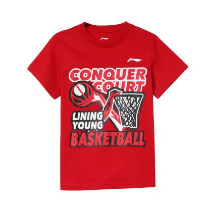 Basketball Boy S/S Tee, Bulls Red