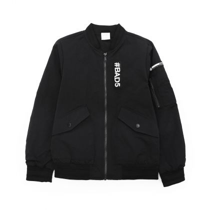 Badfive Boy Jacket, Standard Black