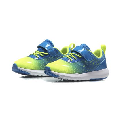 The Trend Boy Li-Ning Kids Sport Shoes, Glory Blue/Flashing Light Green