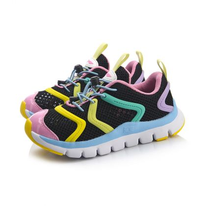 Sports Life Girl Sports Shoes For Kids, Standard Black/Standard White/Prism Pink