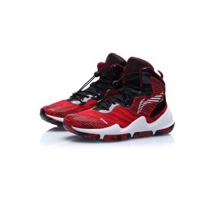 Boy Li-Ning Young Basketball Shoes, Purplish Red/Standard Black