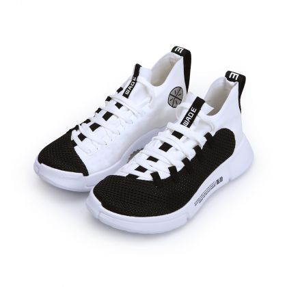 Boy Li-Ning Young Basketball Shoes, Standard White/Standard Black
