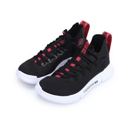 Boy Li-Ning Young Basketball Shoes, Standard Black/Standard White