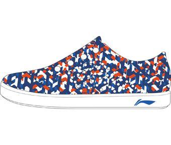 The Trend Boy Li-Ning Young Stylish Shoes, Standard White/Glory Blue/Blue Bell/Flashing Orange